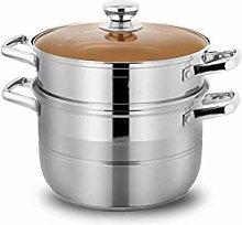WSJTT Stainless Steel Steamer Set Sauce Pot and