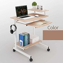 WSJYP Mobile Standing Desk Portable 2 Tier