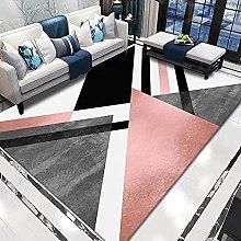 WSKMHK Area Rug For Living Room - Modern Black