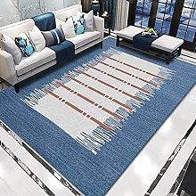WSKMHK Area Rug For Living Room - Modern Blue