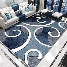 WSKMHK Area Rug For Living Room - Modern Dark Blue
