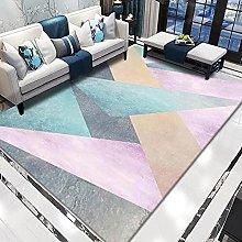 WSKMHK Area Rug For Living Room - Modern Fuchsia