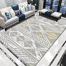 WSKMHK Area Rug For Living Room - Modern Gray