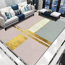WSKMHK Area Rug For Living Room - Modern Pink Gold