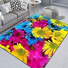 WSKMHK Area Rug For Living Room - Modern Plant