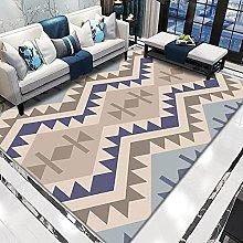 WSKMHK Area Rug For Living Room - Modern Purple