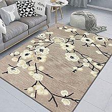 WSKMHK Area Rug For Living Room - Plant Plum