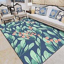 WSKMHK Area Rug For Living Room - Retro Plant