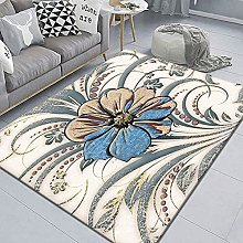 WSKMHK Area Rug For Living Room - Simple Flower