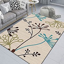 WSKMHK Area Rug For Living Room - Simple Plant