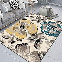 WSKMHK Area Rug For Living Room - Vintage Flower