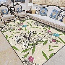 WSKMHK Area Rug For Living Room - Vintage Leaf