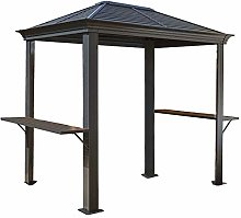 WSN Hardtop Grill Gazebo, with Shelving Outdoor
