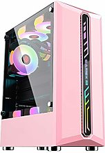WSNBB Pink Gaming Case, Mid-Tower ATX/M-ATX/ITX PC
