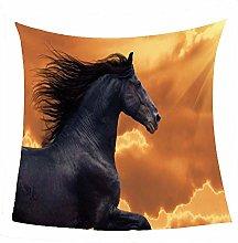 WSSHUIYI Flannel Fleece Throw Blankets Black horse