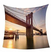 WSSHUIYI Flannel Fleece Throw Blankets Bridge and