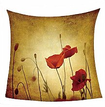 WSSHUIYI Flannel Fleece Throw Blankets Red poppies