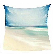WSSHUIYI Flannel Fleece Throw Blankets Sea scenery