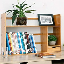 Wstomys Bookshelf,Simple Desk Rack with Drawer