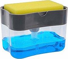 WSZGR Soap Dispenser & Sponge Holder,2 In 1 Manual