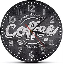 wszhh Cool Coffee Cup Wall Clock Kitchen Cafe Bar
