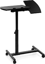 WSZMD Black Adjustable Height Laptop Stand Rolling