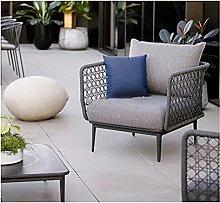 WSZMD Rope Outdoor Patio Garden Balcony Armchair