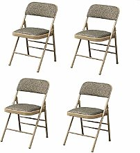 WTDlove 4pcs Steel Folding Chair Strong Metal