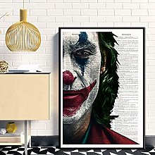 wtnhz Clown smoking movie oil painting poster