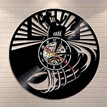 wtnhz LED-American football wall clock rugby