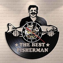 wtnhz LED-Best fisherman fishery wall clock funny