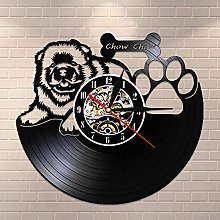 wtnhz LED-Gift Vinyl Wall Clock for Dog Owners