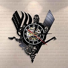 wtnhz LED-Medieval Vinyl Record Wall Clock Nordic