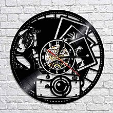 wtnhz LED-Photography vinyl record wall clock