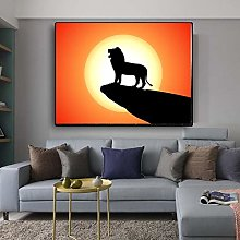 wtnhz Lion movie poster wall art canvas print