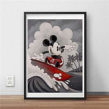 wtnhz Mouse wall art canvas poster and print