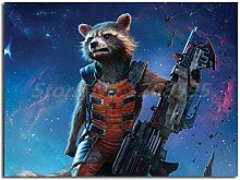 wtnhz Rocket raccoon poster guardian galaxy canvas