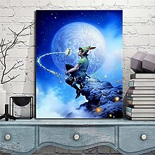 wtnhz Tinkerbell Peter Pan wall art canvas poster