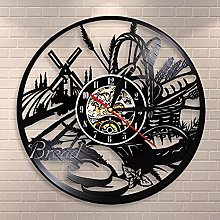 WTTA Bread wheat wall art wall clock bakery logo