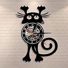 WTTA Cat wall clock for pet ownerFun kitten wall