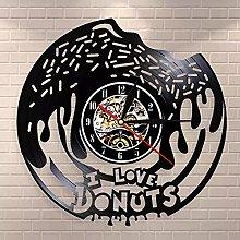 WTTA I love donuts donuts food wall clock retro