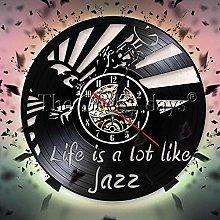 WTTA Life is like a jazz wall clock jazz band