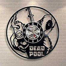 WTTA Vinyl clock man with gun vinyl record wall