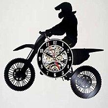 WTTA Vinyl wall clock for motorcycle lovers-wall