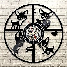 WTTA Vinyl wall clock with pet dog pendant with