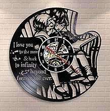 wttian Vinyl wall clock I love you to go to the