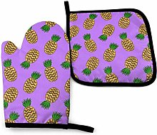 wu Oven Gloves and Pot Holder Psychedelic Purple