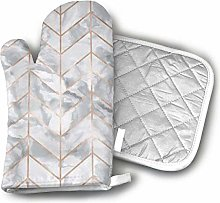 wu Oven Mitts and Pot Holders Set,Marble