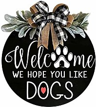 wuayi 1PCS Dogs House Welcome Hanger, Front Door