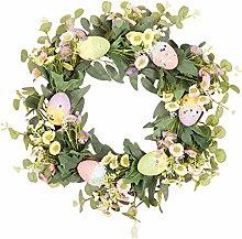 wuayi Eucalyptus Wreath, Front Door Green Spring